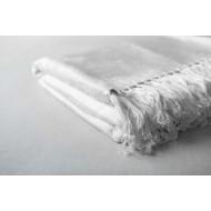 Bamboo Throw  - White